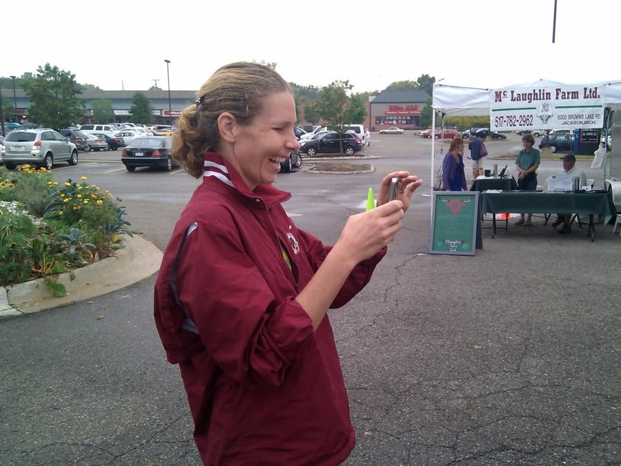 Market Manager Corinna Borden at the Westside Farmers Market
