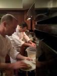 Chef Thad Gilles of Logan and Chef Scott MacInnis of La Tranche de Vie Strike it Hot in the Selma Cafe Kitchen